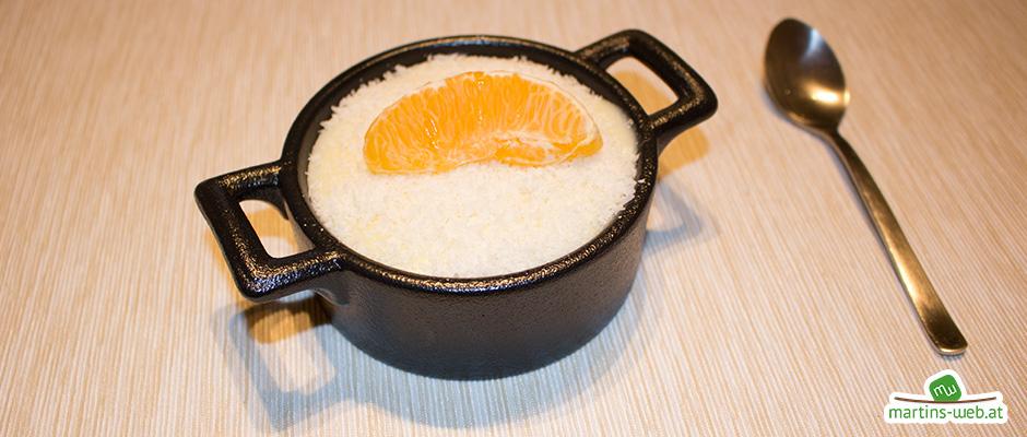 Orangen-Kokos-Pudding