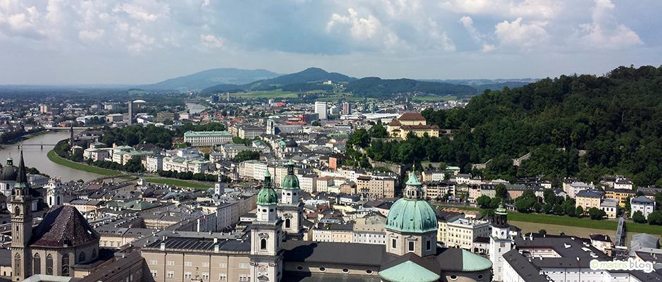 Salzburg von der Burg aus