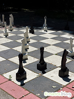 Schachfeld im Europapark