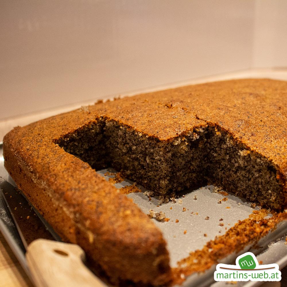 Kuchen fertig gebacken