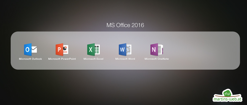 Office 2016 im Launchpad
