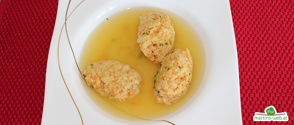 Karotten-Griessnockerl-Suppe