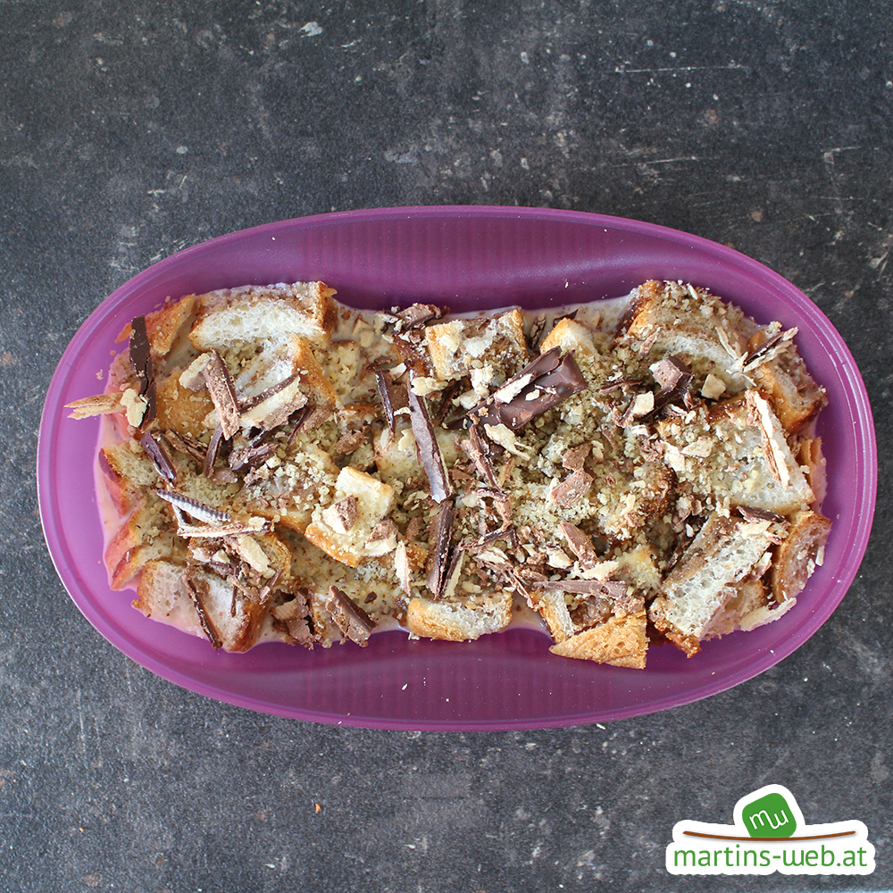 Schoko-Nuss-Omlett vor dem Backen