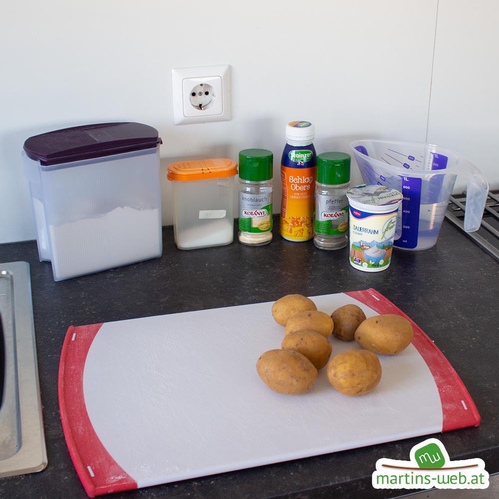 Zutaten für die Kartoffel-Rahmsuppe