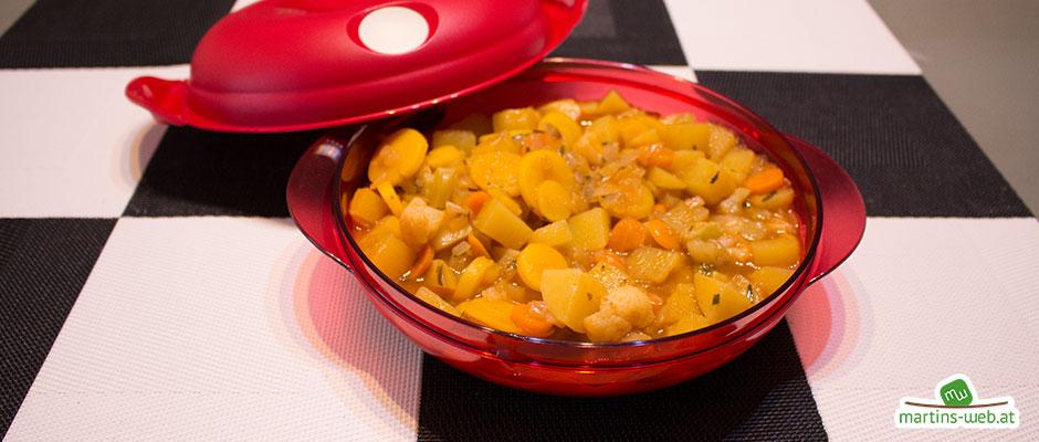 Putenfleisch mit Orange, Ananas und Mango