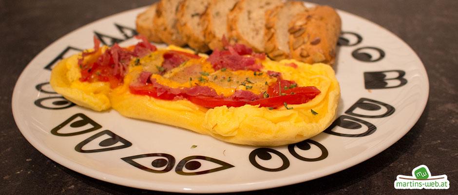 Tomaten-Käse-Omlett