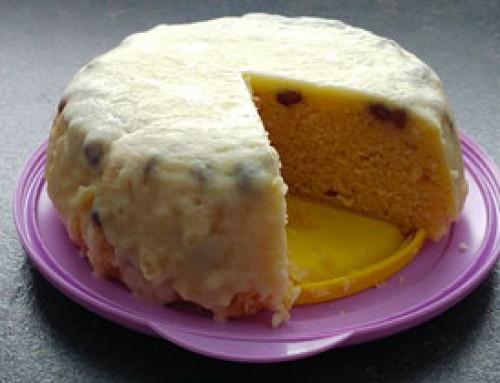 Rosinenkuchen mit weißer Schokolade