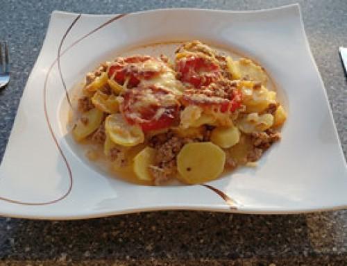 Kartoffel-Tomaten-Gratin