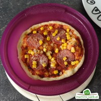 Salami-Pizza aus dem Vitalwunder