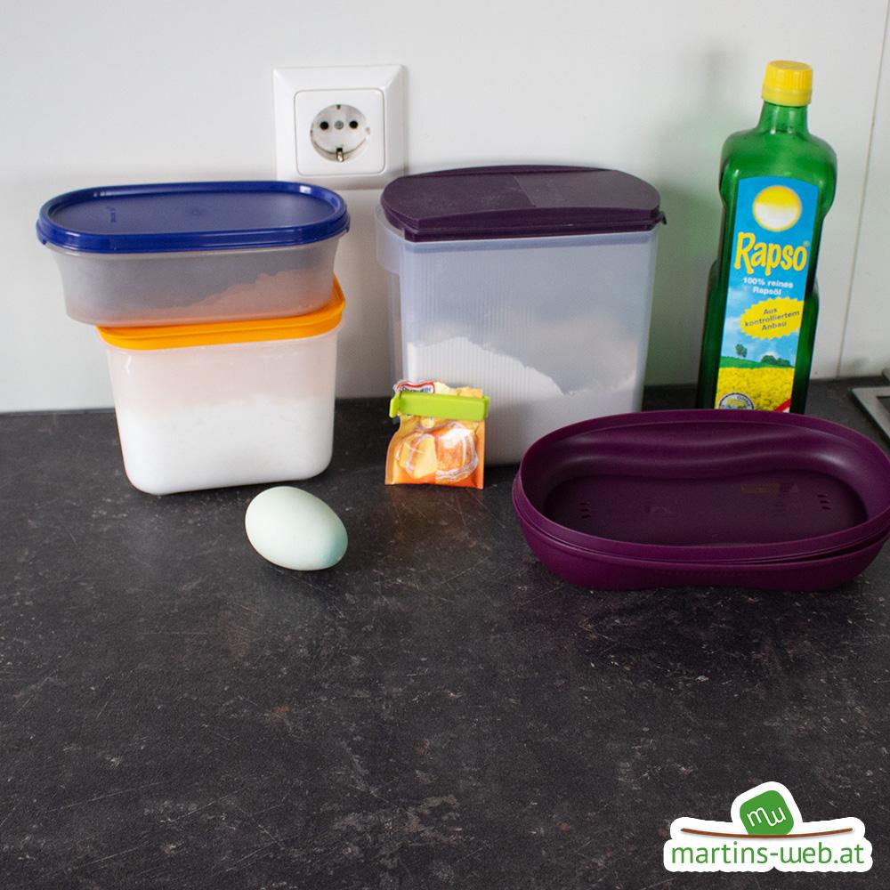 Zutaten für den Omlettwunder-Marmorkuchen