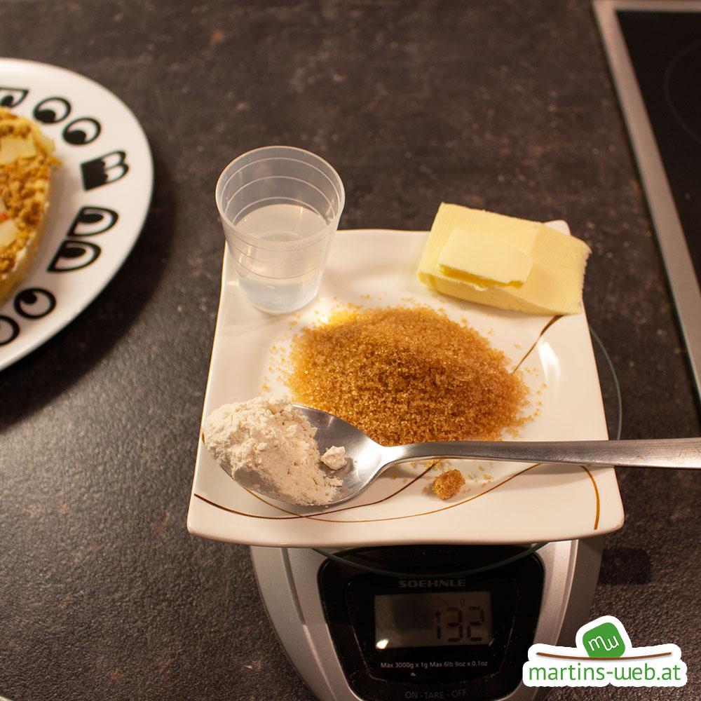 Apfel-Sanddornkuchen mit Karamell-Topping