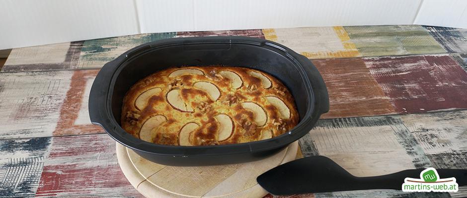 Reisauflauf mit Äpfel und Walnüssen