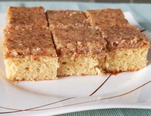 Blechkuchen mit Baileys-Mandeltopping