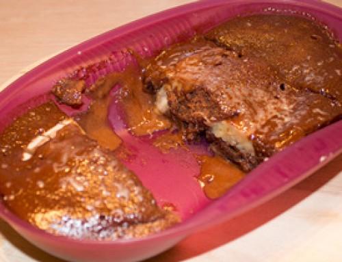 Warmer Schoko-Bananen-Kuchen im Omlettwunder