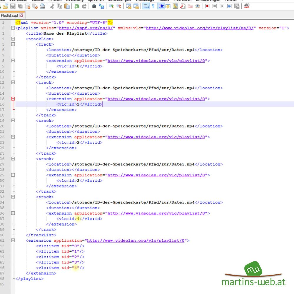 VLC-Playlisten für Android