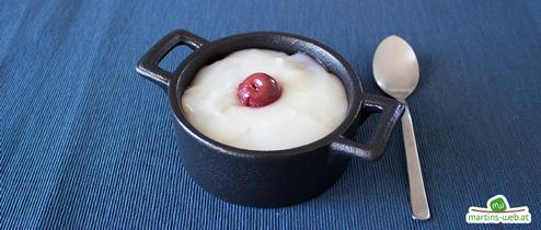 Kirsch-Kokos-Pudding