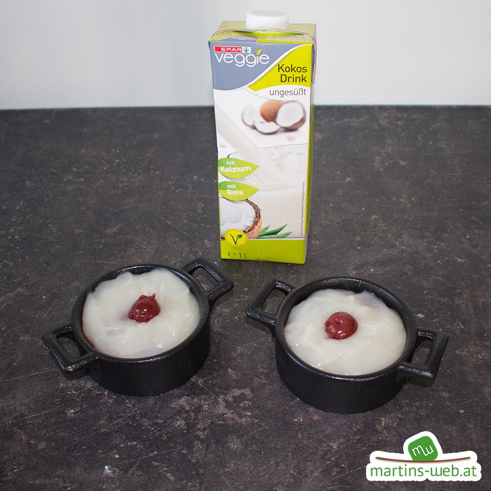 Kirsch-Kokos-Pudding ist fertig