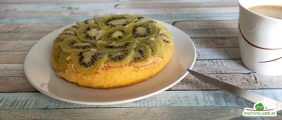 Kiwi-Kuchen aus dem Micro-Chef