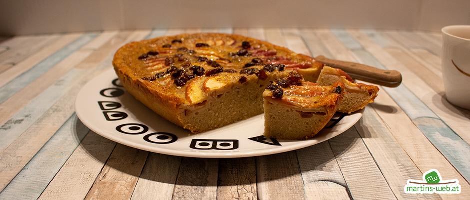 Apfel-Rosinen Kuchen aus dem UltraPro