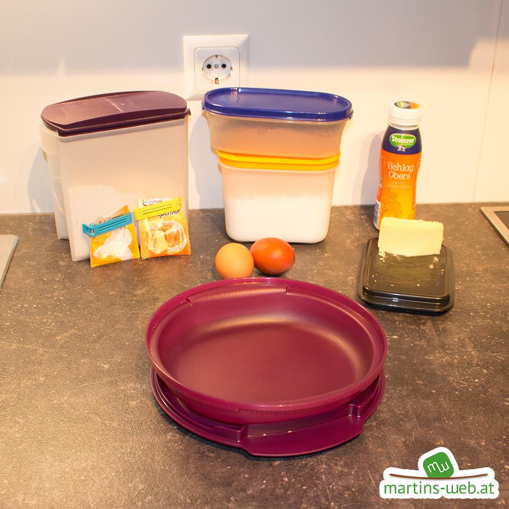 Zutaten für den Marmorkuchen