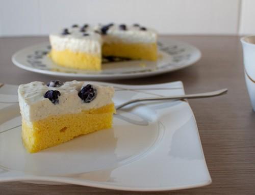 Köstlicher Heidelbeer-Joghurt Kuchen