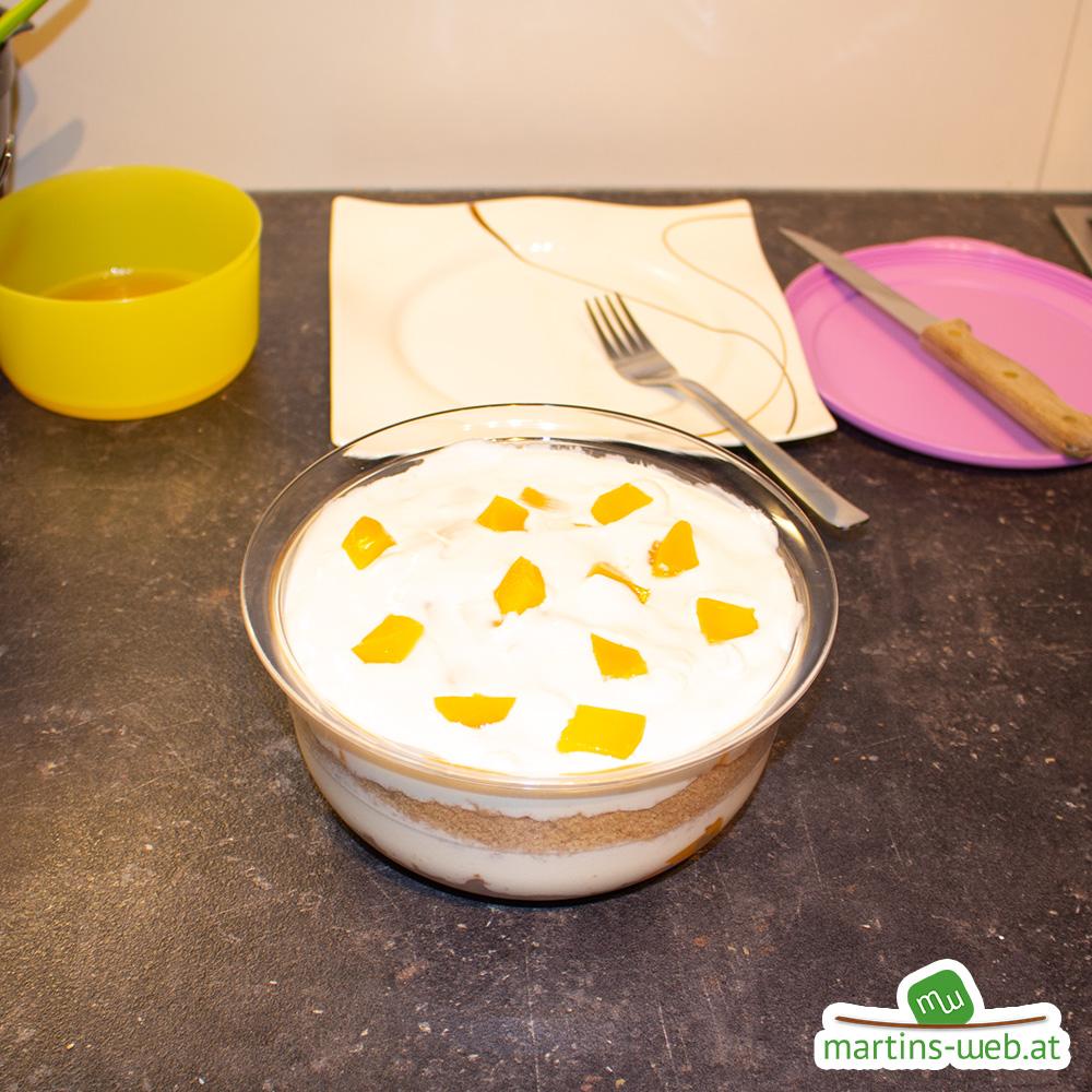 Pfirsich-Joghurt Schichtdessert