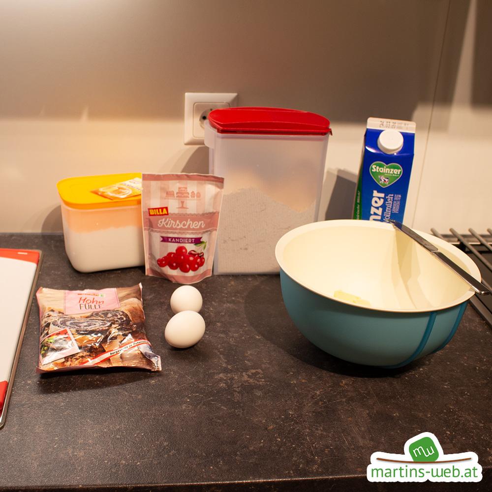 Zutaten für den Mohnkuchen