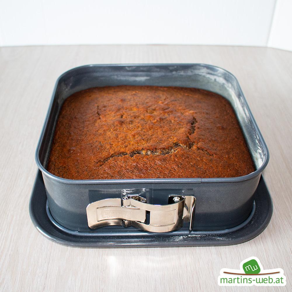 Mohnkuchen mit Dinkelmehl