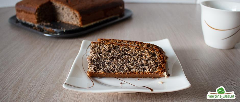 Mohnkuchen mit Vollkorn-Dinkelmehl