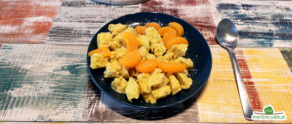 Einfacher Kaiserschmarren mit Mandarinen
