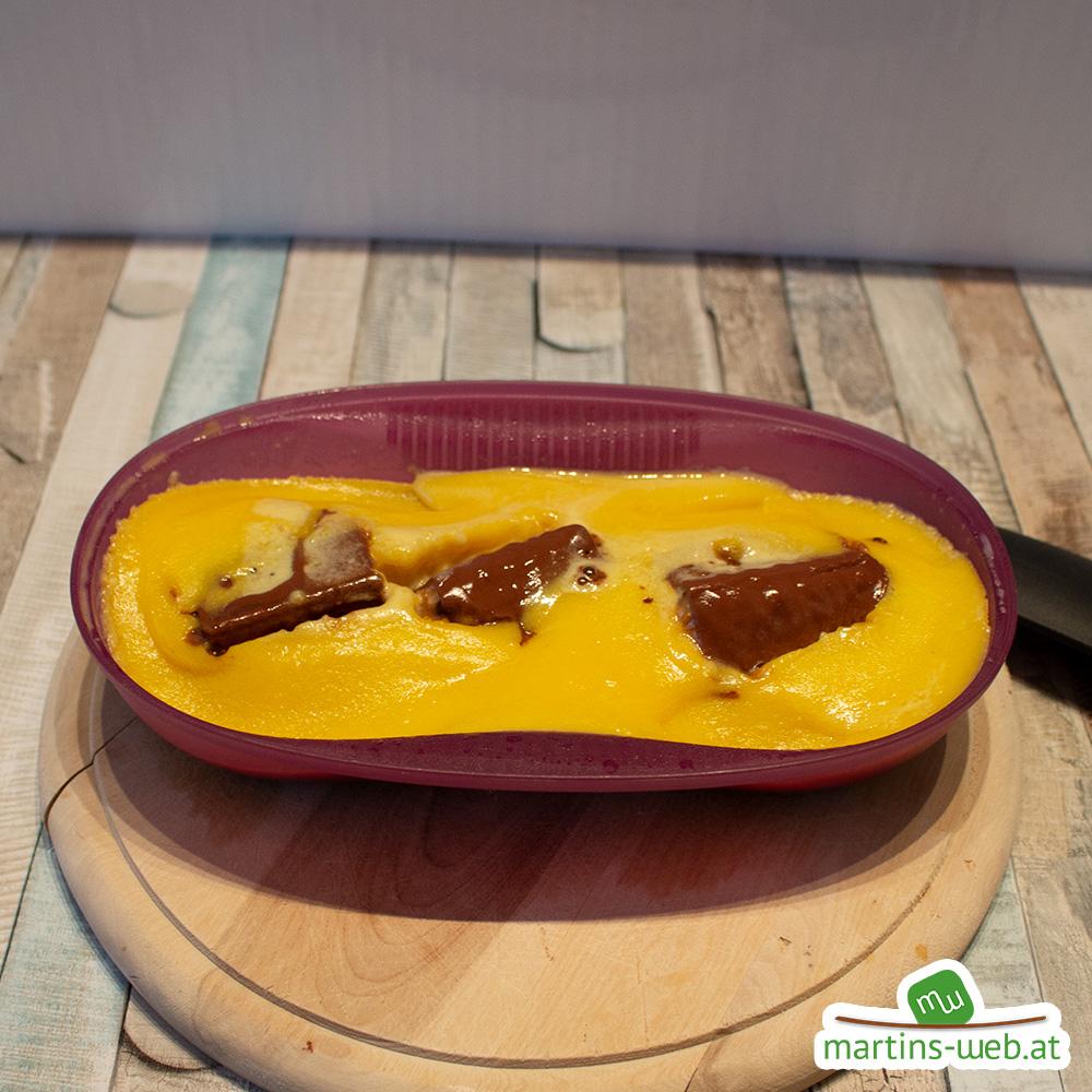 Knoppers Erdnuss-Omlett ist fertig