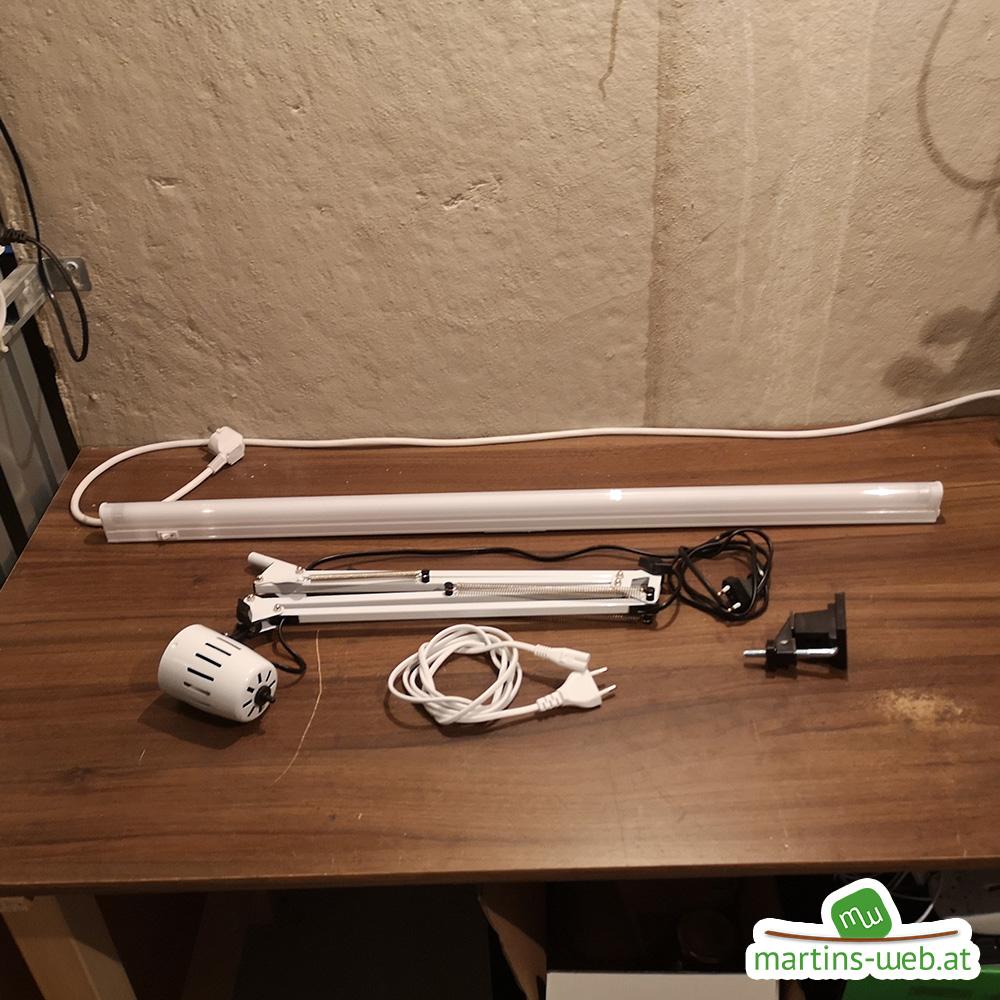 Bauteile für die neue Schreibtischlampe