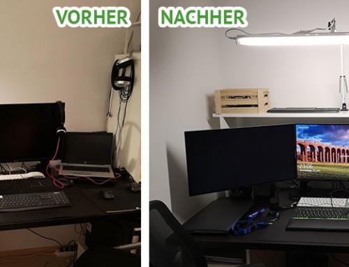 DIY: Große Schreibtischlampe für mein Homeoffice