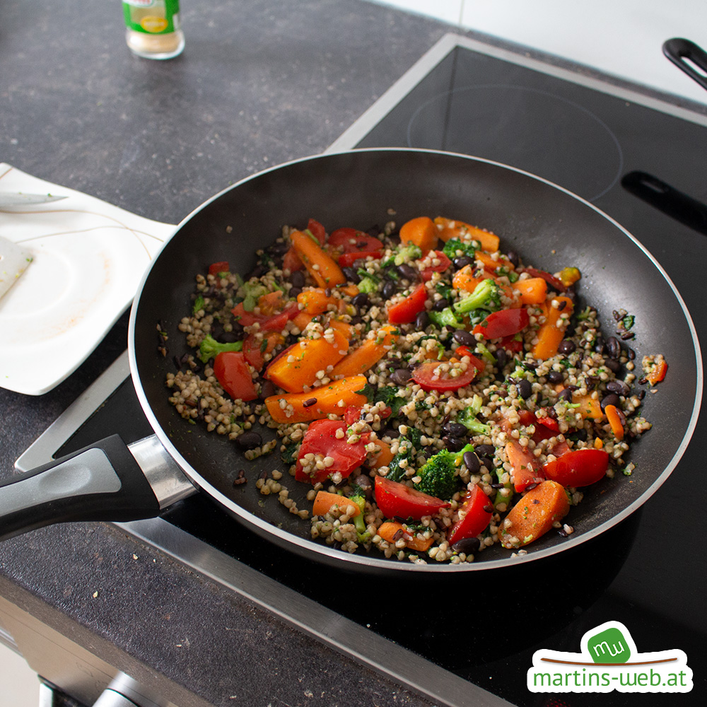 Brokkoli-Buchweizen-Mix zubereiten