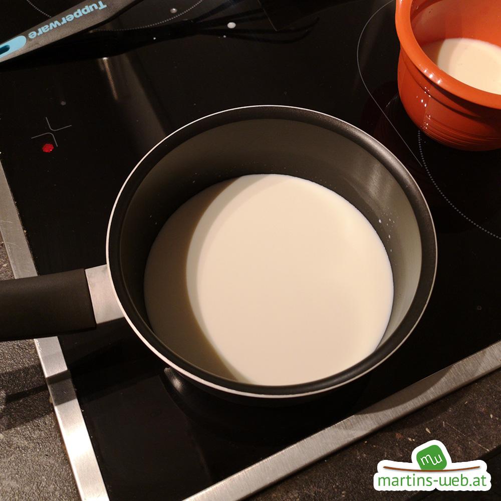Milch erwärmen