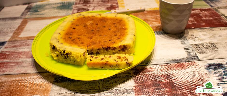 Rosinen-Kuchen aus dem MicroPro Grill