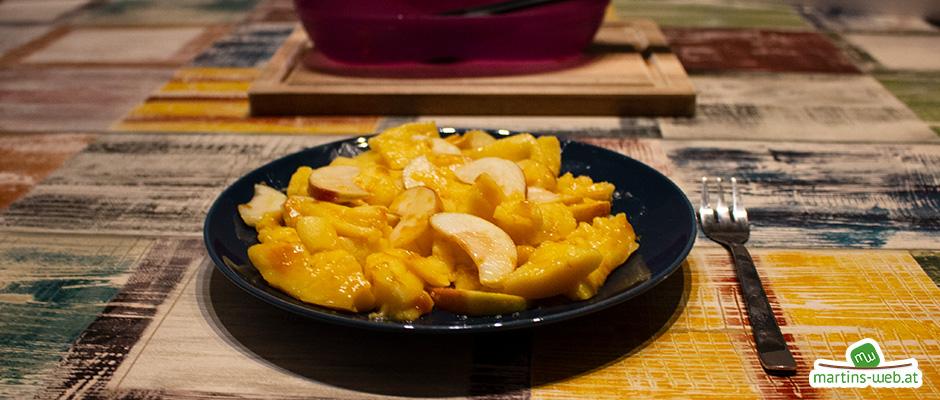 Süßes Apfel-Omelette aus dem Omlettwunder