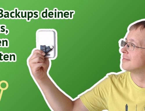 Einfaches Backup von USB-Sticks, externen Festplatten und SD-Karten